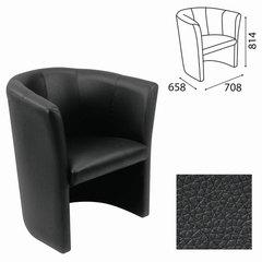 "Кресло ""Club"", 814х708х658 мм, c подлокотниками, кожзам, черное"
