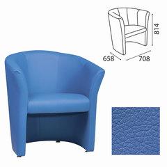 """Кресло """"Club"""", 814х708х658 мм, c подлокотниками, кожзам, синее"""