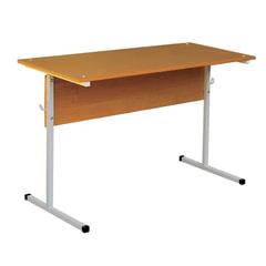 Стол-парта 2-местный нерегулируемый, 750х1200х500 мм, рост 6, серый каркас, ЛДСП бук