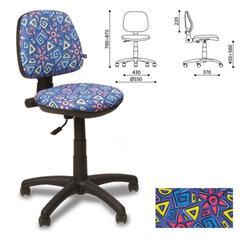 """Кресло детское """"Swift GTS"""", без подлокотников, синее с рисунком"""