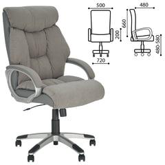 """Кресло офисное """"Cruise"""", ткань/кожзам, серое, Microfibre"""