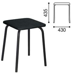 Табурет РС01-03, черный каркас, черный кожзам