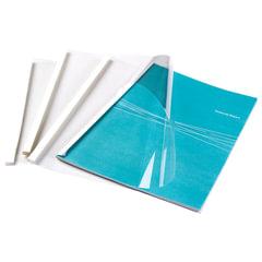 Обложки для термопереплета FELLOWES, комплект 100 шт., А4, 4 мм, 33-43 л., верх - прозрачный PVC, низ - картон