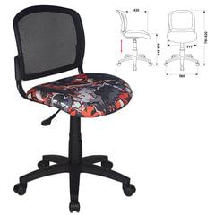 Кресло оператора CH-296NX/GRAFFITY без подлокотников, черное с рисунком