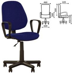 """Кресло оператора """"Forex GTP"""" с подлокотниками, сине-черное"""