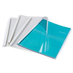 Обложки для термопереплета FELLOWES, комплект 100 шт., А4, 1,5 мм, 1-8 л., верх - проз Pvc, низ - картон