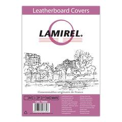 Обложки для переплета LAMIREL, комплект 100 шт., Delta (тиснение под кожу), А4, картонные 230 г/м2, белые