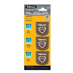 Ножи FELLOWES, набор 3 шт., для резаков NEUTRON, ELECTRON, PROTON, волна, перфорация, биговка