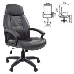 """Кресло офисное BRABIX """"Formula EX-537"""", экокожа, серое"""
