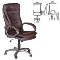 """Кресло офисное BRABIX """"Omega EX-589"""", экокожа, коричневое"""