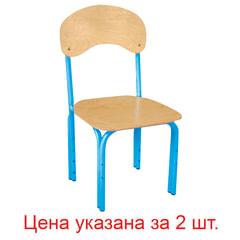 """Стулья детские """"Яшка"""", комплект 2 шт., регулируемые, рост 1-3 (100-145 см), фанера/металл, голубые"""