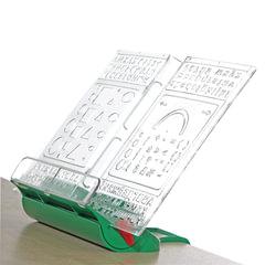 "Подставка для книг ДЭМИ ""Трафарет"", пластиковая, зеленая"