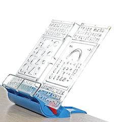 """Подставка для книг ДЭМИ """"Трафарет"""", пластиковая, синяя"""