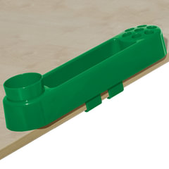 Подставка-органайзер ДЭМИ, большой, 9 отделений, пластик, зеленый, 88х350х65 мм