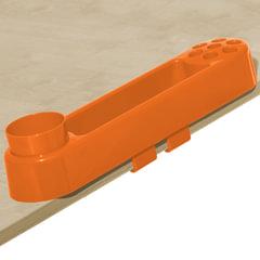 Подставка-органайзер ДЭМИ, большой, 9 отделений, пластик, оранжевый, 88х350х65 мм