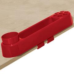 Подставка-органайзер ДЭМИ, большой, 9 отделений, пластик, красный, 88х350х65 мм
