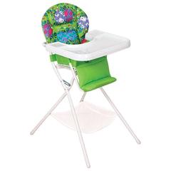 Кресло детское для кормления ДЭМИ КДС.03, съемный столик, цвет салатовый/белый