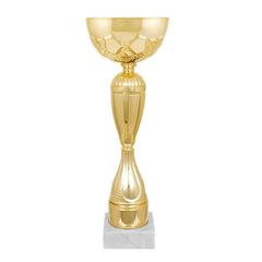 "Кубок металический ""Персис"" (100х100х280 мм), основание мрамор, ""золото"""