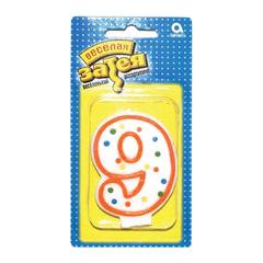 """Праздничная свеча цифра """"9"""" высотой 7,6 см"""