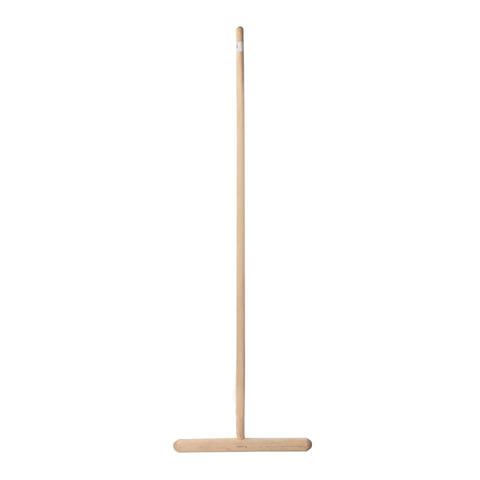 Швабра для пола деревянная, длина черенка 130 см, рабочая часть 32 см