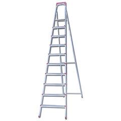 """Лестница-стремянка """"UFUK """", 226 см, 10 ступеней, стальная, облегченная, вес 13 кг"""