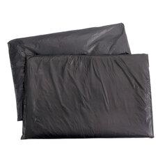"""Мешки для мусора, 200 л, комплект 5 шт., в упаковке, ПВД, особо прочные, 90х130 см, 65 мкм, черные, КБ """"Профи"""""""