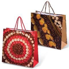 Пакет подарочный ламинированный, 27x27x11 см, абстракция