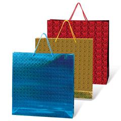 Пакет подарочный ламинированный, 40х55х24 см, голографический, цвет ассорти