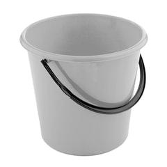 Ведро 12 л, без крышки, пластиковое, пищевое, цвет серый, мерная шкала