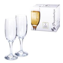 """Набор фужеров """"Bistro"""" для шампанского, 6 шт., 190 мл, стекло, PASABAHCE"""