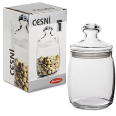 """Банка с крышкой """"Cesni"""" для сыпучих продуктов, 1 шт., 940 мл, стекло, PASABAHCE"""