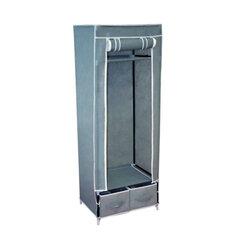Шкаф тканевый для одежды 2018, 1600х600х450 мм, 2 ящика, металлический каркас, серый