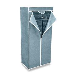 Шкаф тканевый для одежды 2012, 1550х700х440 мм, металлический каркас, чехол серый