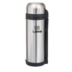 Термос ЛАЙМА классический с узким горлом, 1,8 л, нержавеющая сталь, пластиковая ручка