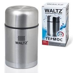 Термос WALTZ / ЛАЙМА универсальный с широким горлом, 0,8 л, нержавеющая сталь