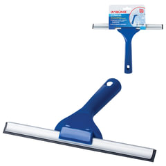Стяжка для удаления жидкости со стекол ЛАЙМА, рабочая часть 25 см, пластик, для дома и офиса