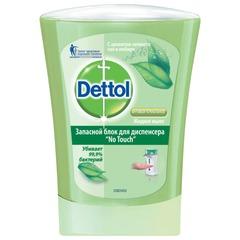 """Картридж с жидким мылом 250 мл, DETTOL (Детол) """"Зеленый чай и имбирь"""", антибактриальный, диспенсер 601998"""