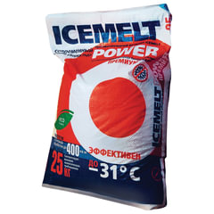 "Реагент антигололедный 25 кг, ICEMELT Power (""Айсмелт Пауэр""), до -31С, мешок"