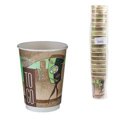 """Одноразовые стаканы """"Хухтамаки"""", комплект 18 шт., бумажные двухслойные, 400 мл, цветная печать, для холодного/горячего, DW16"""