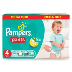 "Подгузники-трусики 104 шт., PAMPERS (Памперс) ""Active Baby Pants"", размер 4 (9-14 кг)"