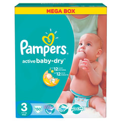 "Подгузники 150 шт., PAMPERS (Памперс) ""Active Baby"", размер 3 (4-9 кг)"