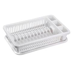 Сушилка для посуды и приборов, 15 секций, комплект с поддоном, 8х29х42 см, цвет мраморный, IDEA
