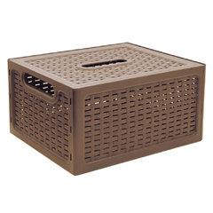 """Ящик 6,3 л, с крышкой, для хранения, универсальный, 12х28х18 см, коричневый, """"Ротанг"""", IDEA"""