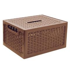 """Ящик 17 л, с крышкой, для хранения, универсальный, 19х37х28 см, коричнивый, """"Ротанг"""", IDEA"""