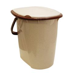 Ведро- туалет 24 л, сиденье с крышкой, пластиковое, цвет бежевый мрамор, IDEA