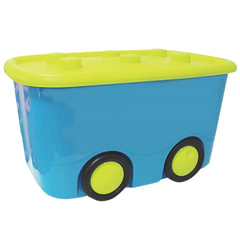 """Ящик 25 л, с крышкой, для хранения, детский, на колесах, """"Мобби"""", 41х32х60 см, бирюзовый, IDEA"""