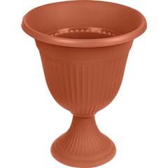 """Кашпо-вазон для цветов 10 л, с подставкой-ножкой, """"Ливия"""", высота 44 см, диаметр 35 см, коричневое, IDEA"""