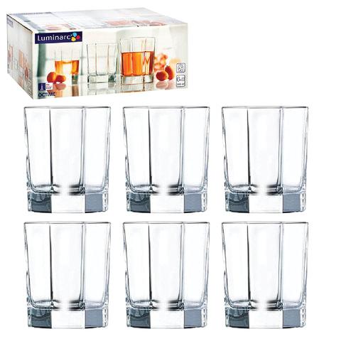 """Набор посуды """"Octime"""", стаканы для сока/виски, 6 шт., 300 мл, низкие, стекло, LUMINARC"""