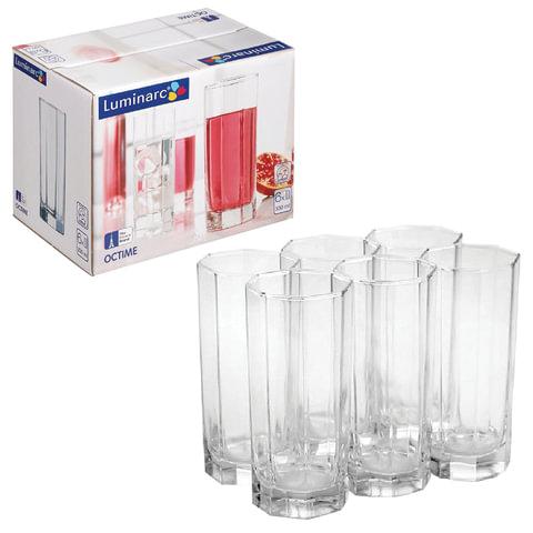 """Набор посуды """"Octime"""", стаканы для сока/виски, 6 шт., 330 мл, высокие, стекло, LUMINARC"""