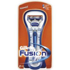 """Бритва GILLETTE (Жиллет) """"Fusion"""", с 2 сменными кассетами, для мужчин"""